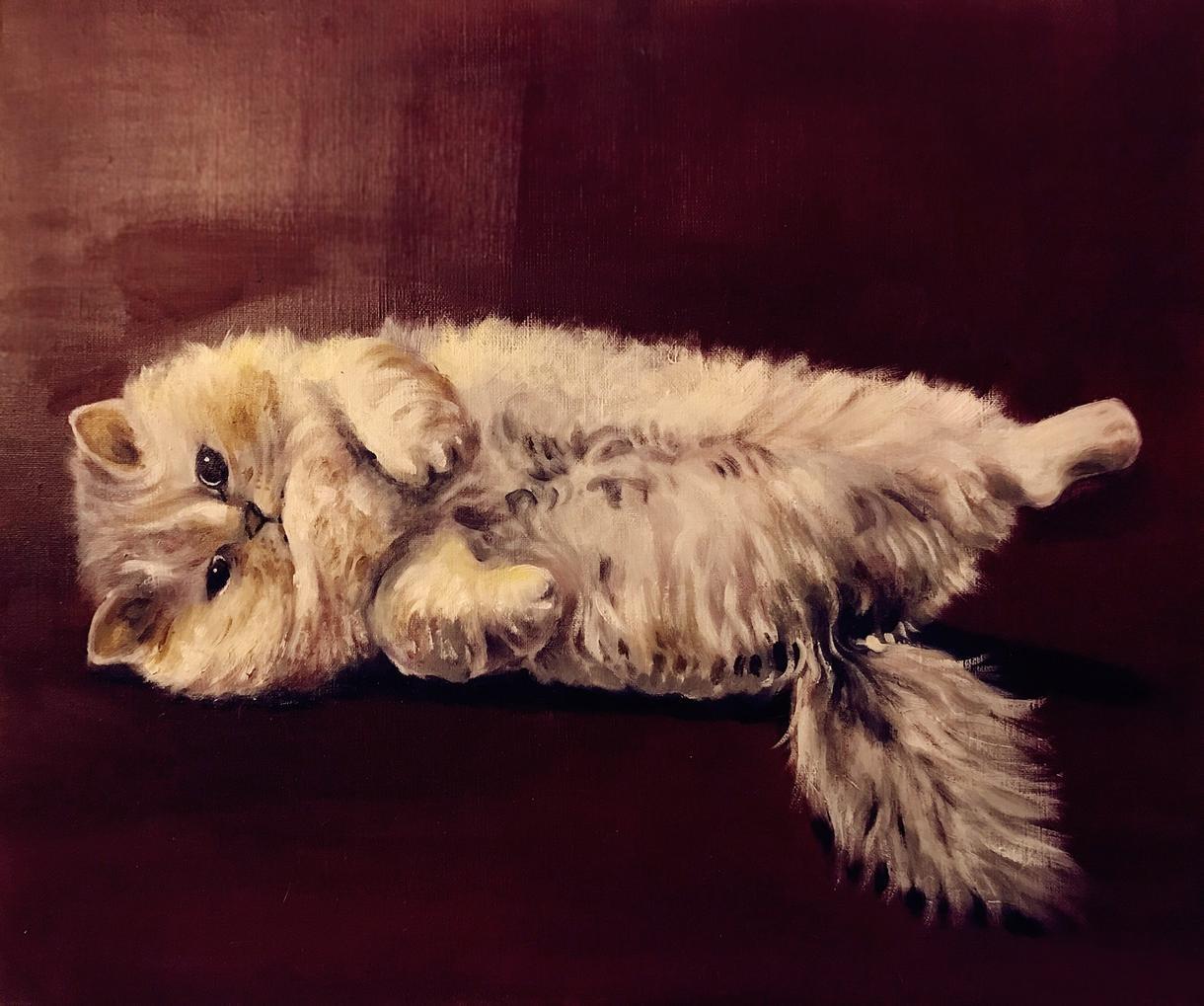 油絵でペットの似顔絵を描きます 記念日のプレゼントや思い出づくりに最適です。 イメージ1