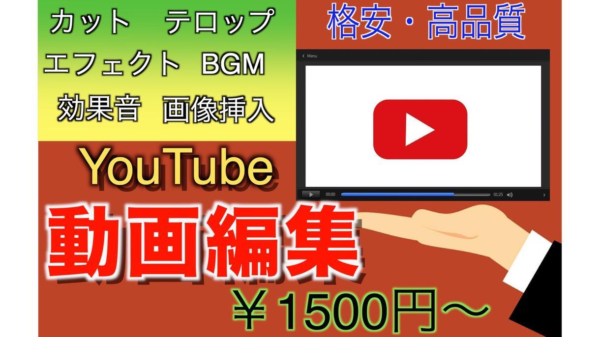 youtube向け☆格安で動画編集いたします 様々なジャンルの動画に対応します! イメージ1