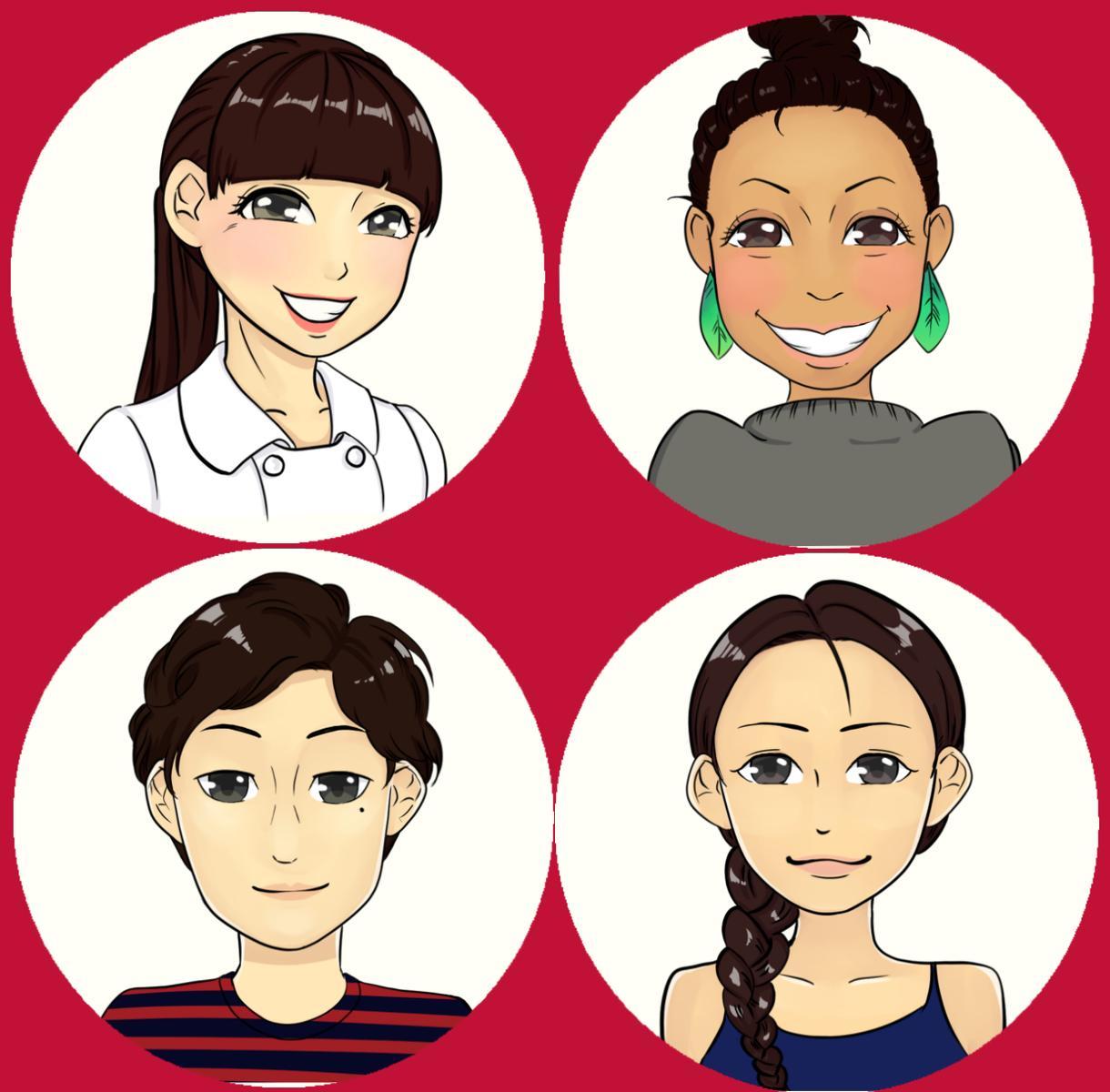 SNSアイコンに!120%美人化似顔絵描きます コンプレックスではなく、長所や魅力を最大限に引き出します!