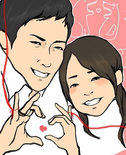 カップル・ご夫婦の似顔絵描きます 思い出の一枚をイラストにしませんか? イメージ1