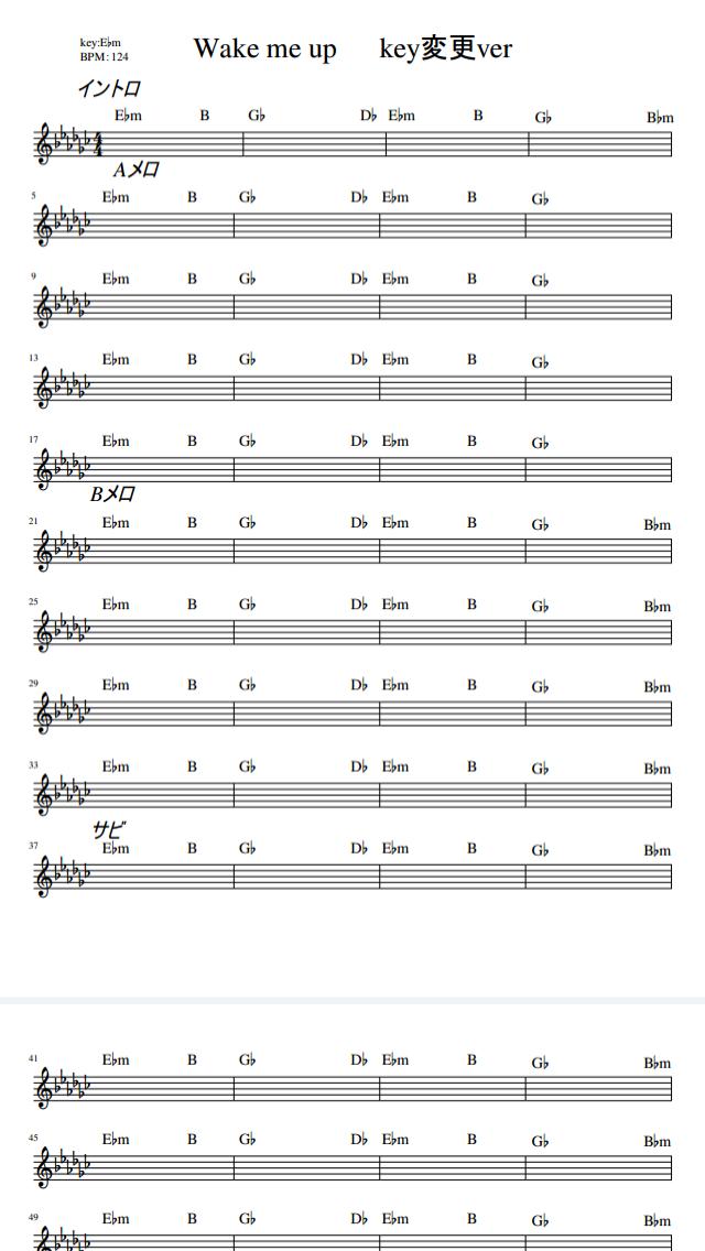ピアノ コード 楽譜