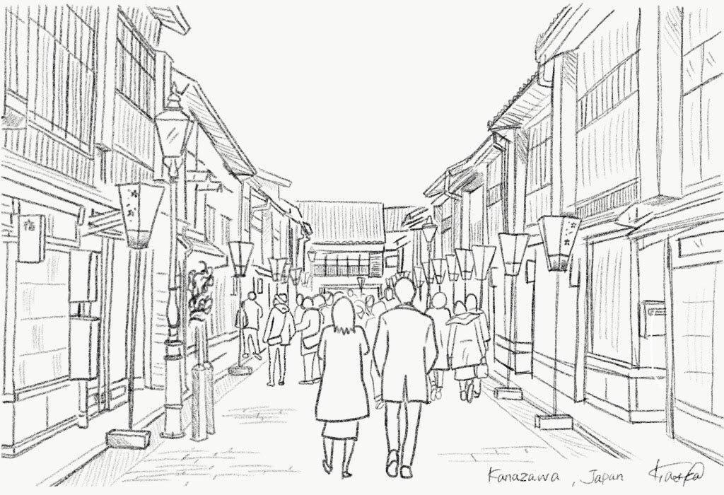 シンプルな線画描きます 思い出の景色を線画にします!SNSヘッダーにいかがですか?