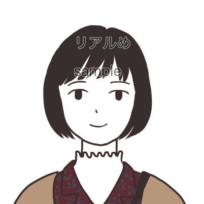 アイコンなどに使える似顔絵を描きます 写真やテキストでのご希望を元にイラストを作成いたします