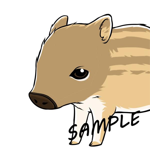 リアルだけどキャラクターっぽく動物を描きます 資料写真不要!SNSのアイコンやワンポイントに!