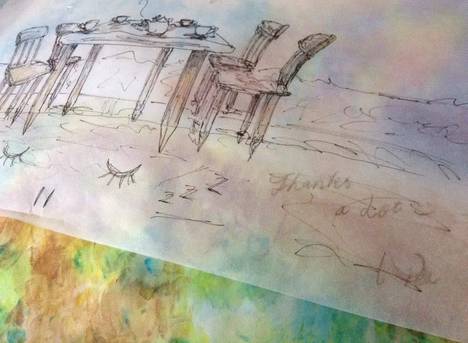 夢のカフェを絵に起こします 「ここでカフェをやりたい」まず具現化して周りの人に伝えよう
