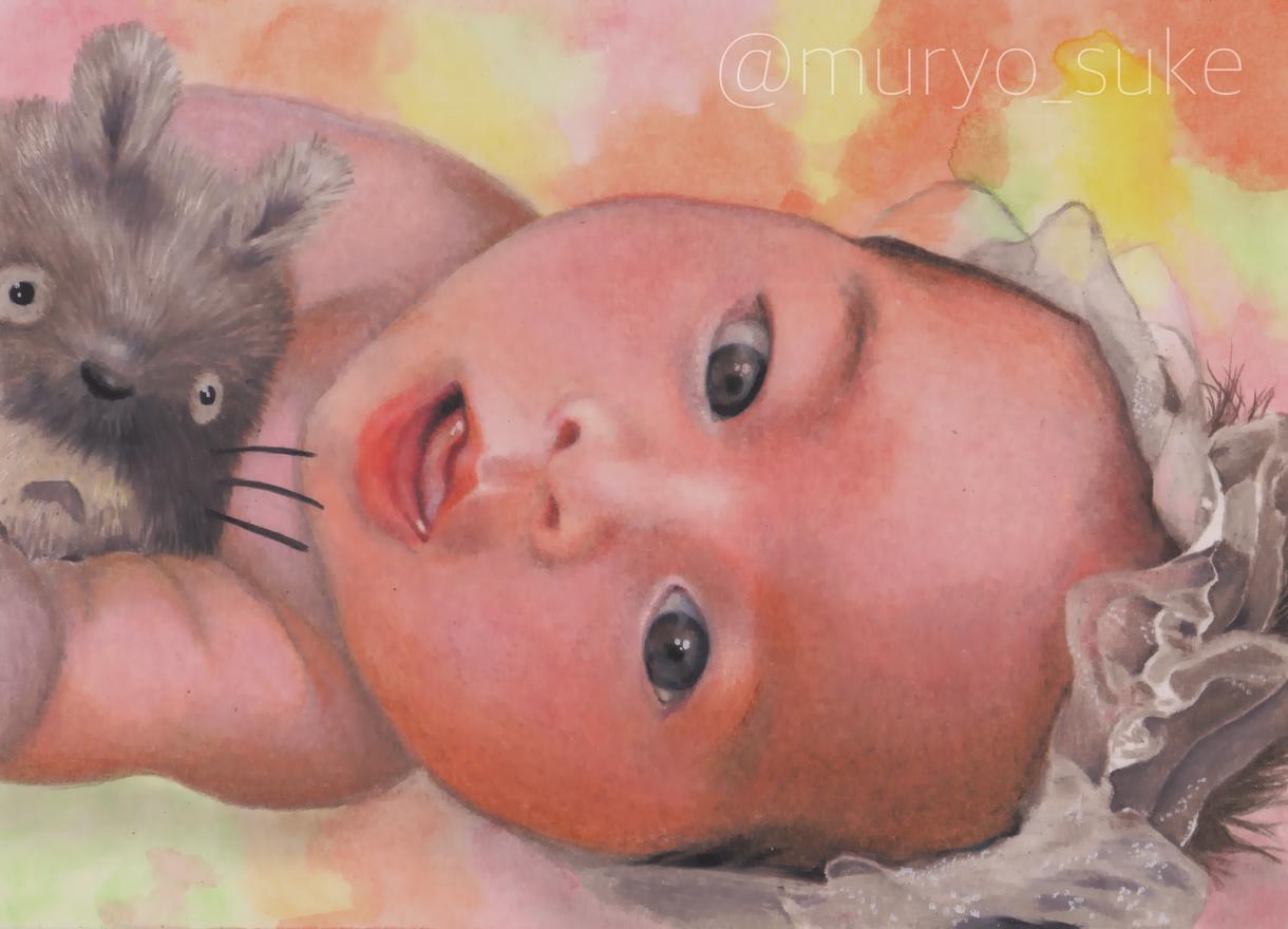 A4 人物・動物 色鉛筆でリアルな似顔絵を描きます 大切な人やペットとの思い出を写真以外のカタチで残したい方に!