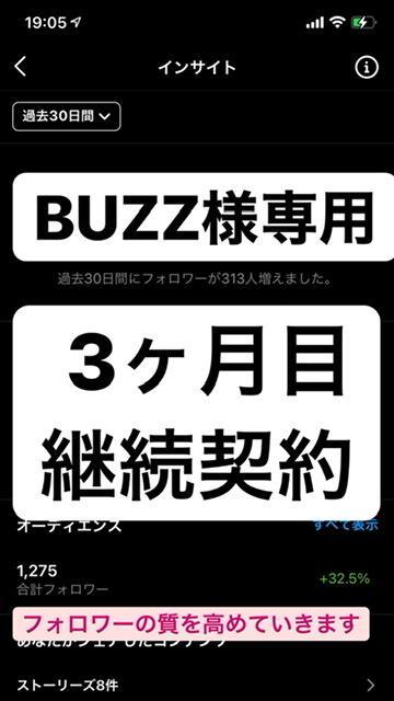 BUZZ様専用でございます いつもありがとうございます。3ヶ月目の継続契約!! イメージ1