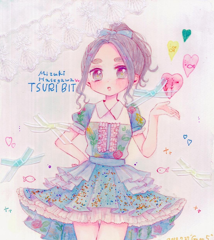 女の子キャラのイラストを色紙に描きます 手描きになるので世界で一枚だけです