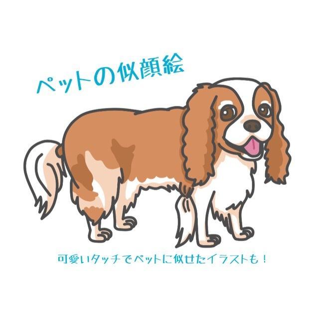ペット、動物をキャラクター化似顔絵イラストにします SNSのアイコンやHPにいかがですか?