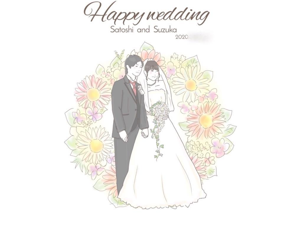 リアルタッチウェルカムボード描きます 結婚式やお祝い、記念になるウェルカムボードにがおえです^^* イメージ1