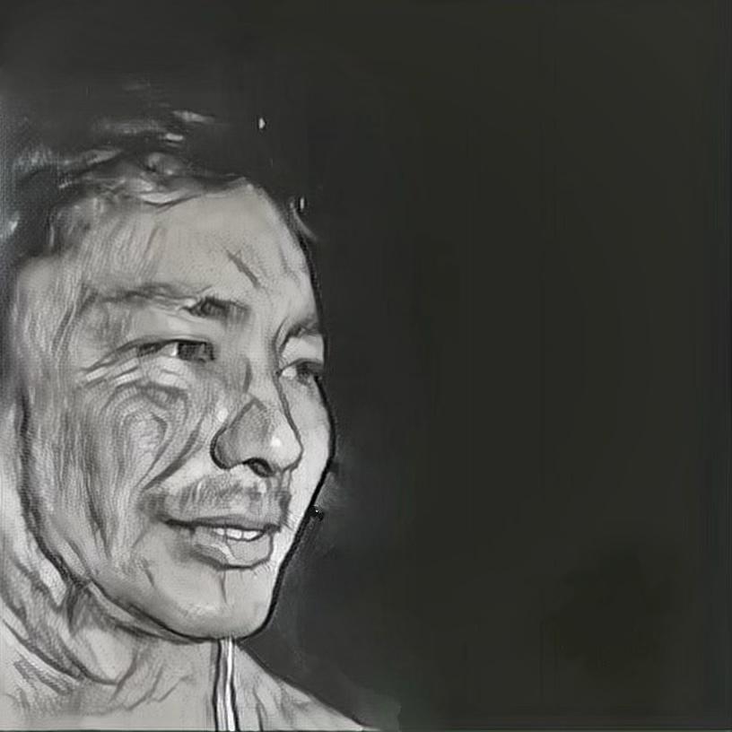 鉛筆で似顔絵を描きデジタル化します 少し凝ったSNSのアイコンなどにしませんか?