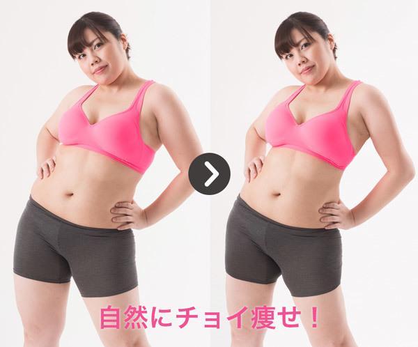 ぽっちゃり→チョイ痩せに加工します 自然な感じで「チョイ痩せ」させます! イメージ1