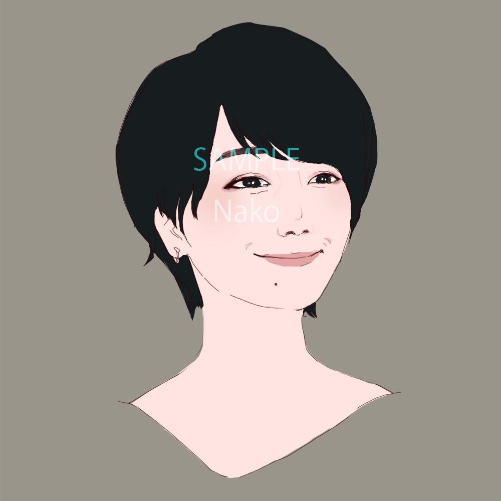 おしゃれな似顔絵をお描きします SNSのアイコンに使える!きれいめなイラストです