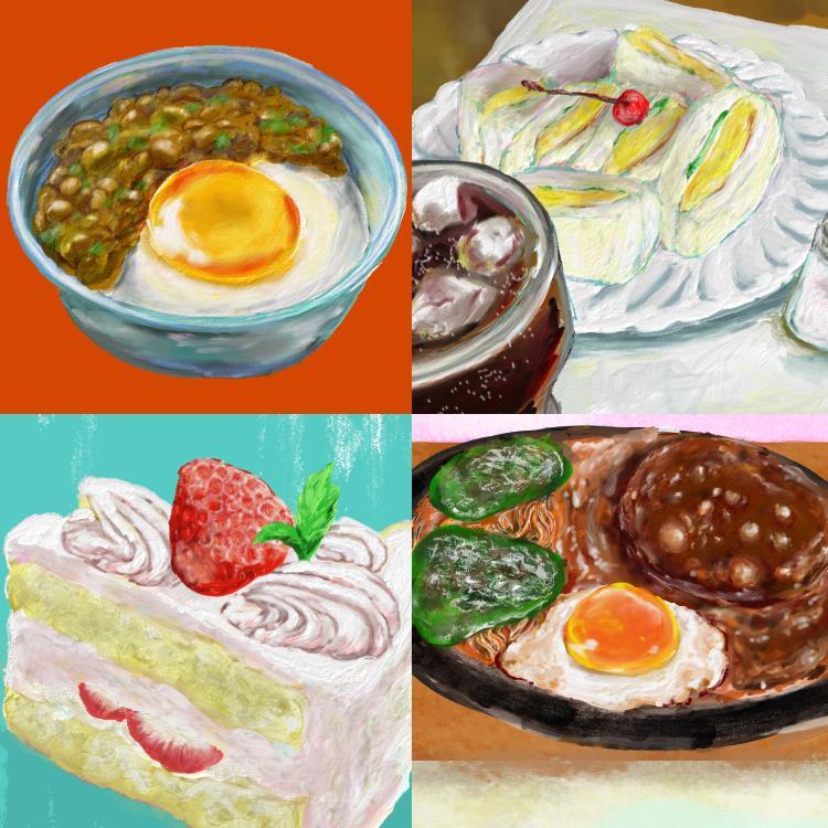 おいしいごはんイラスト承ります 油絵のような絵具のタッチでお料理イラストをお届けします! イメージ1