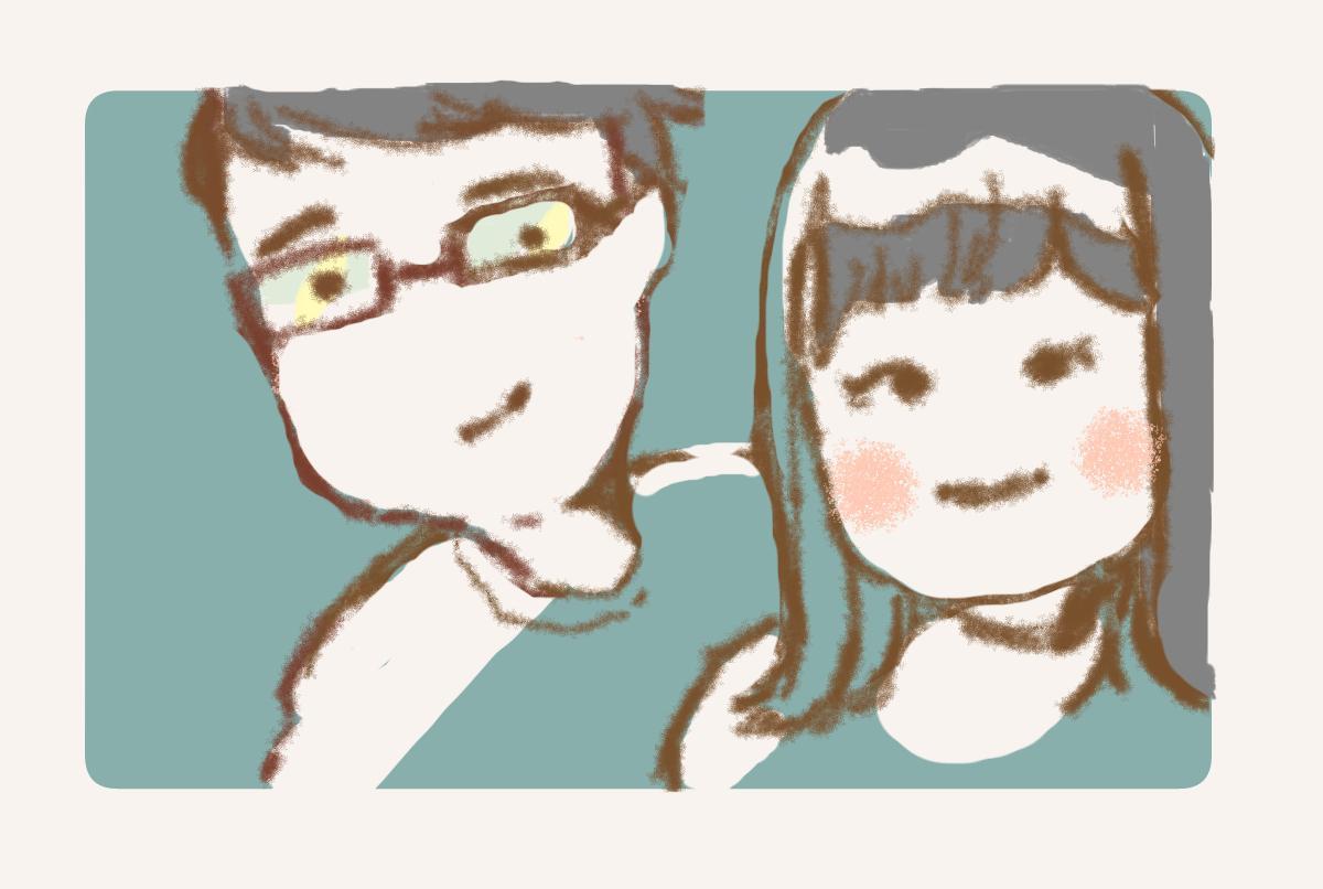 似顔絵・アイコンお描きします ぷにっとしたイラストどうですか?