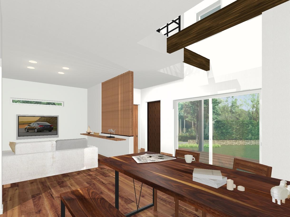 住まいの外内観パースや間取りの作成承ります 一級建築士があなたの要望をパースや図面で理想のカタチにします