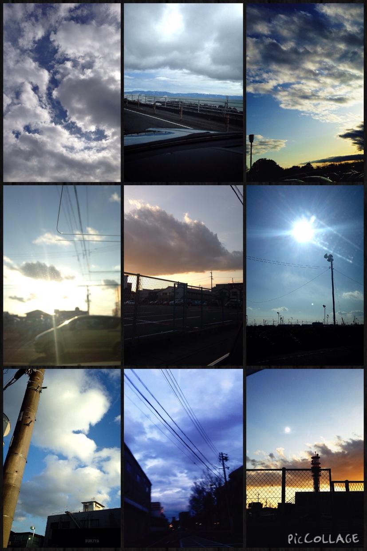 パワーが宿る雲の写真に、メッセージを添えてお届けします。