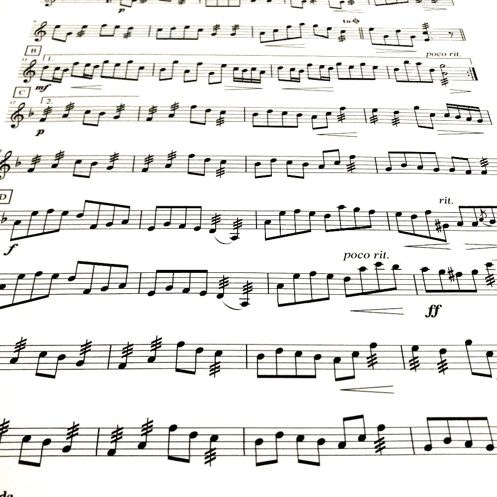 楽譜の清書・移調などを行います 楽譜が手書きで読みづらい、調が違って演奏しづらいという方に