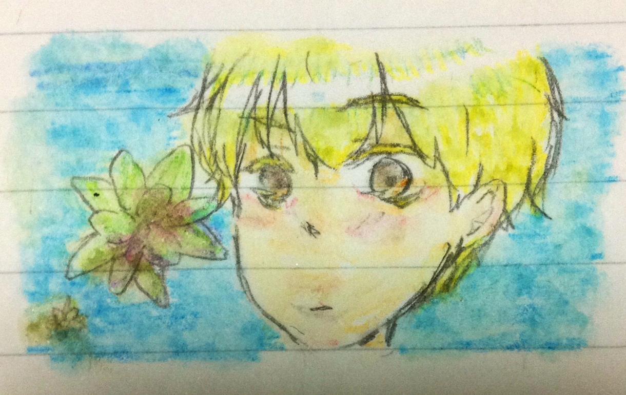 水彩色鉛筆イラスト作製します