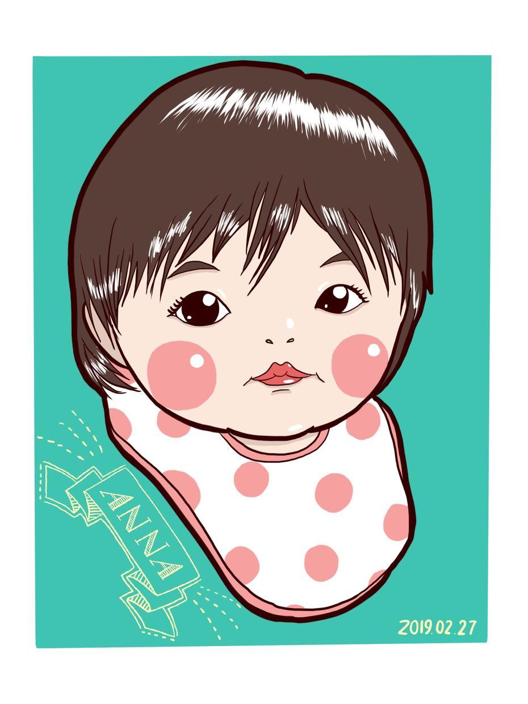お子様の似顔絵お描きします 記念日に、我が子の成長記録に、プレゼントに、この1枚。 イメージ1
