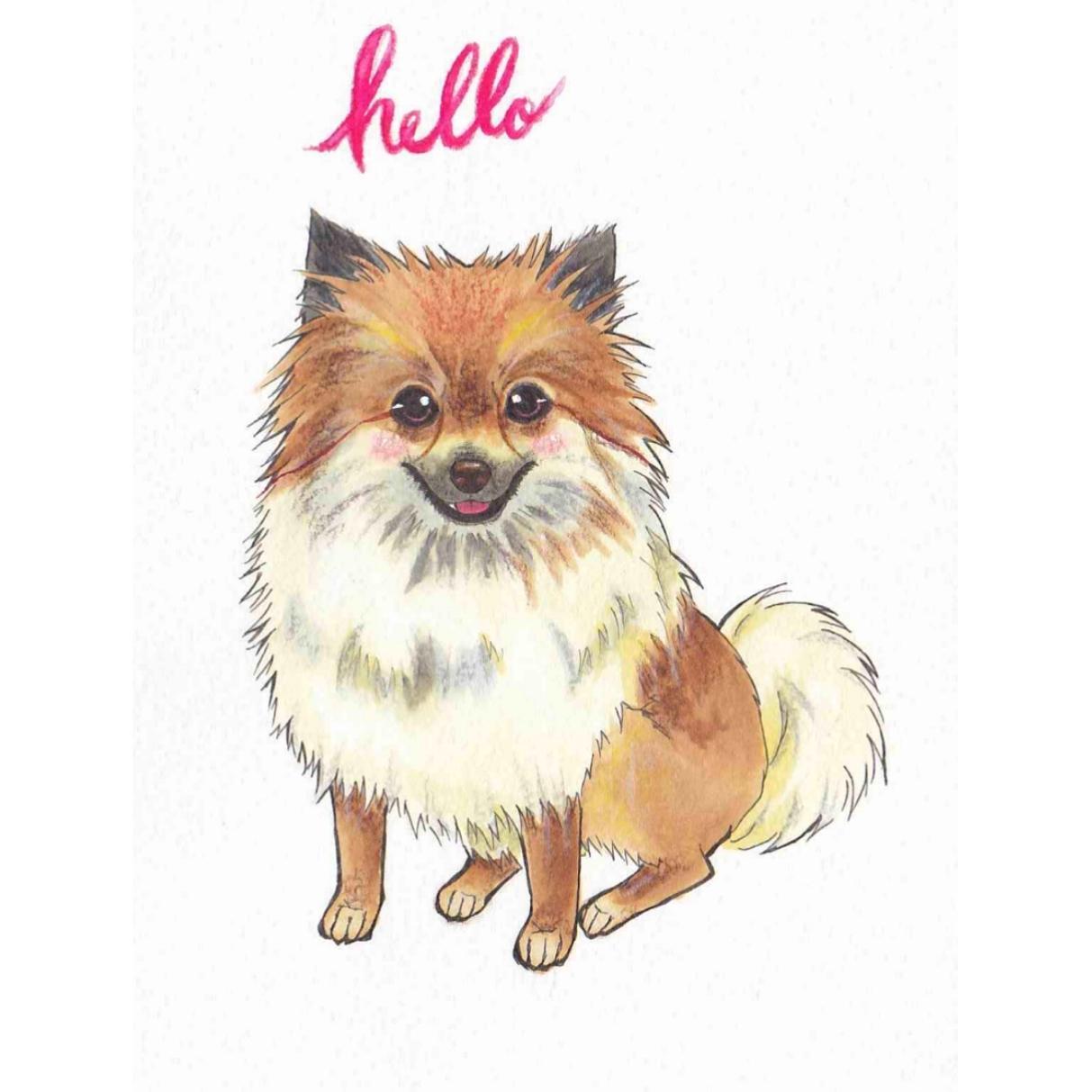 あなたの可愛いペットの似顔絵を描きます 似顔絵師による色鉛筆等を使った繊細で温かいイラストです。