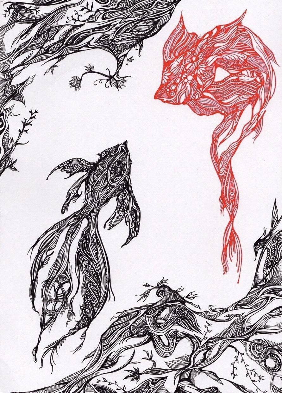 ボールペン画(細密画)で絵を描きます 世界にひとつ。あなたのお部屋に個性的な絵を飾ってみませんか
