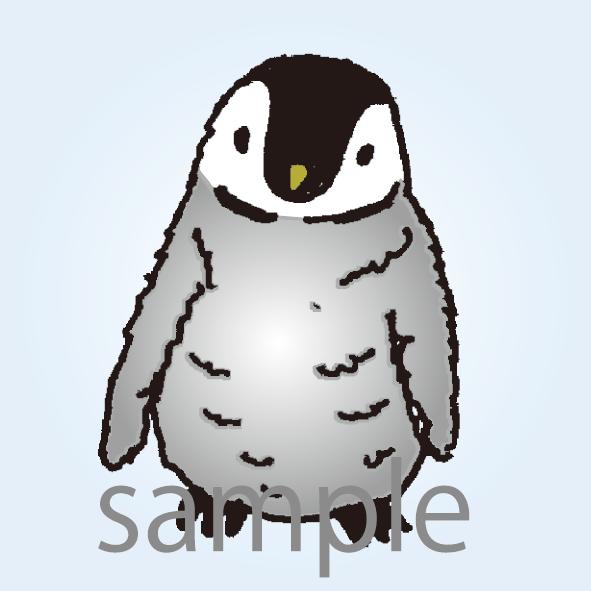 モフモフしたアルパカ、サモエド犬、ペンギンの子どもをコミカルなキャラクターにして描きます。