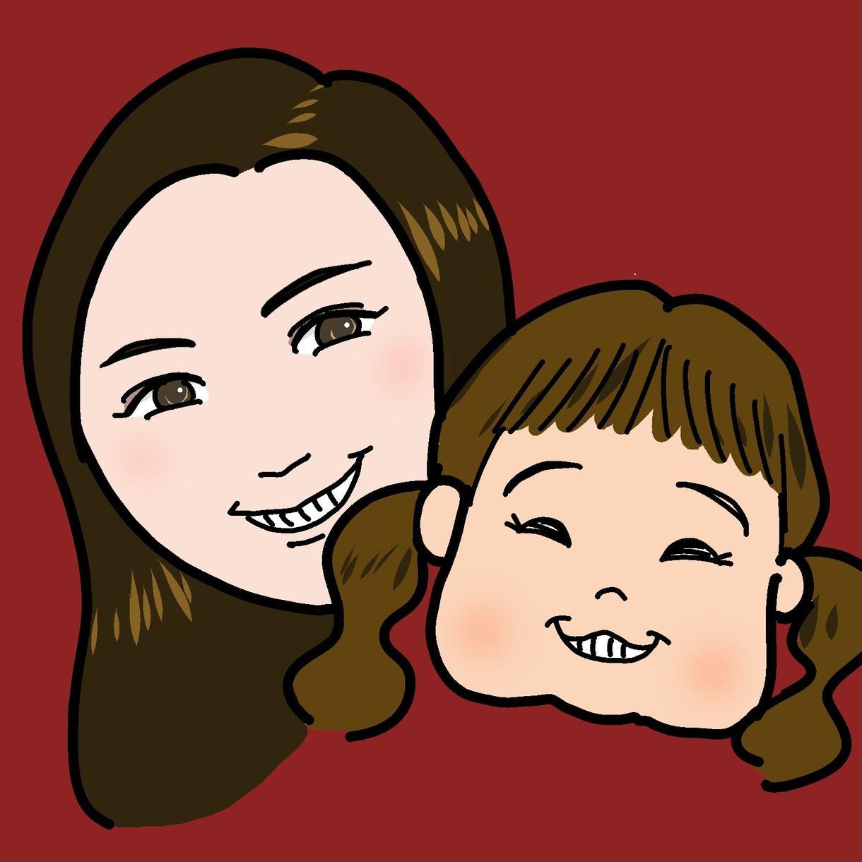 かわいい!ママと赤ちゃんのSNSアイコン描きます ★子どもの「いま」を残しませんか★