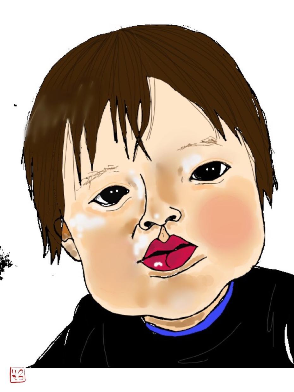 小学生さんまで限定!黒目入り似顔絵描きます 白目イラストレーターの黒目入り似顔絵!