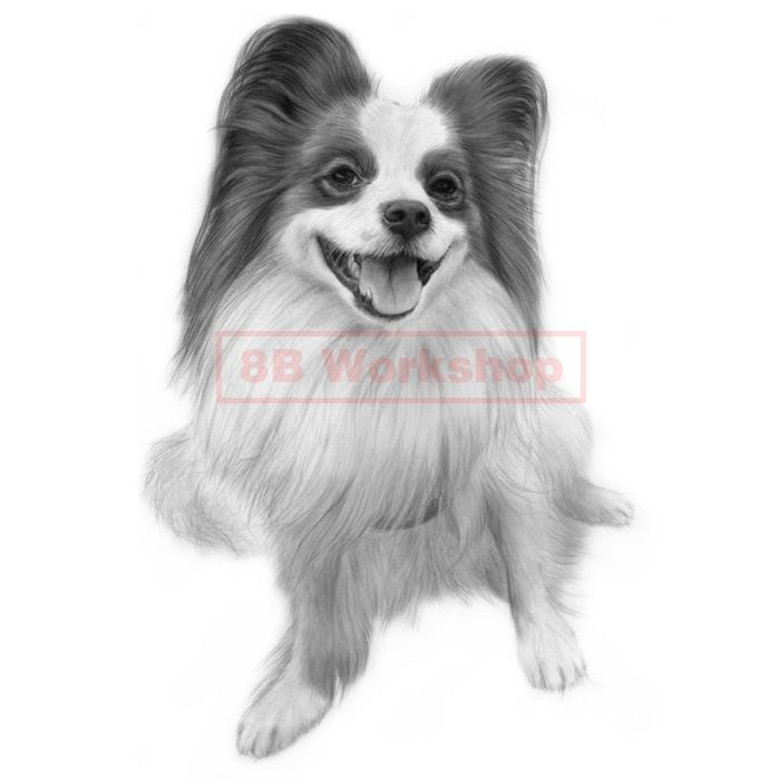 愛犬、愛猫を精細な鉛筆画で再現いたします 実務30年以上プロのイラストレーターが描きあげます