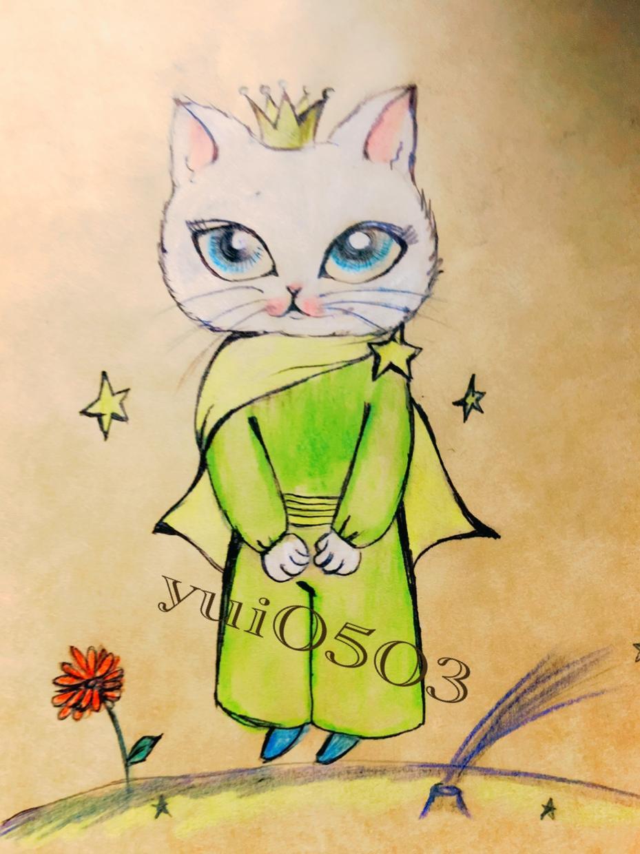人気シリーズお洋服にゃんこ★描きます オリジナルの色鉛筆画になります!リクエストも可