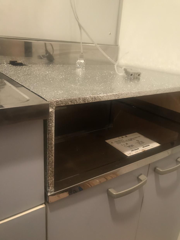 インダクションテーブル作成します インダクションレンジを置いて、下に小物等をしまえます!