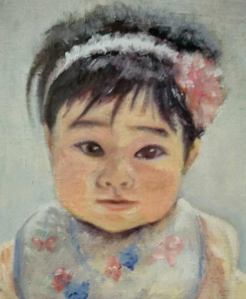 肖像画(油彩/F4サイズ)を描きます 【プレゼントや自宅用に】大切な方の笑顔を本格油彩で!