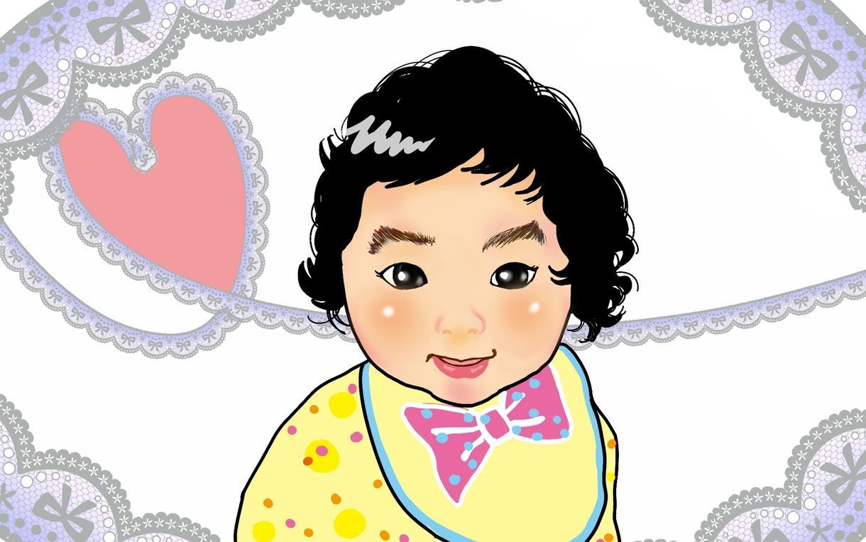 0歳~小学生限定で似顔絵描きます お任せなら背景無料(*^^*)