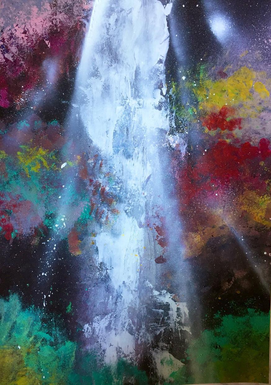 宇宙や自然など幻想的なスプレーアートを描きます 他にはないインパクトを与えたい方にオススメなスプレーアート!
