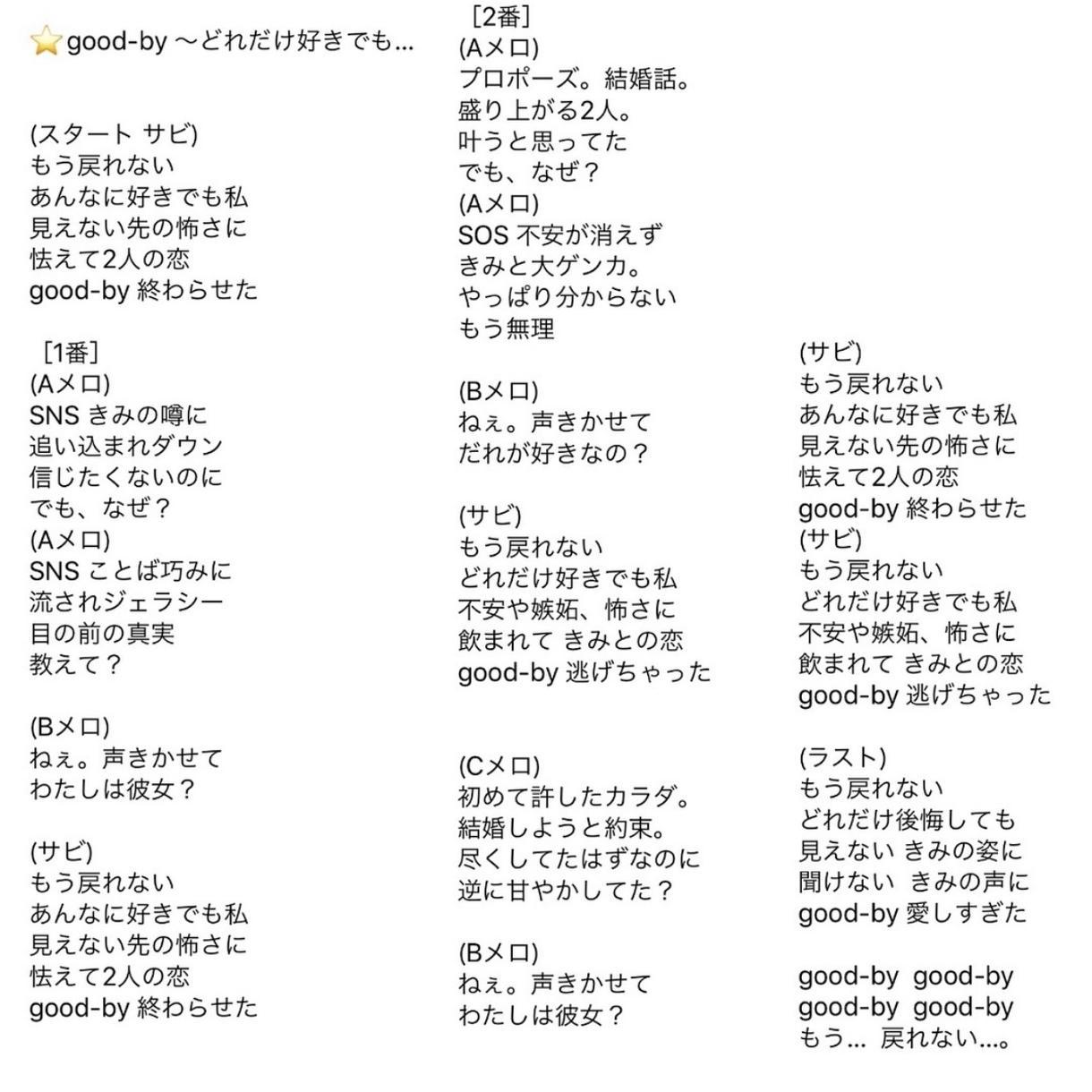 詞先オリジナル曲の作詞します 切ない系、恋愛系がの歌詞が得意です♡ イメージ1