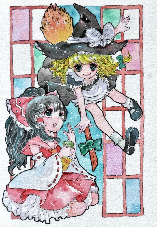 手描きイラストの制作&原画を郵送いたします ★ポストカードサイズ★透明水彩での着色