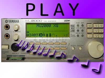 MIDIファイルをMU2000で再生します MIDIデータの再生や、効果音作成などにいかがでしょうか?