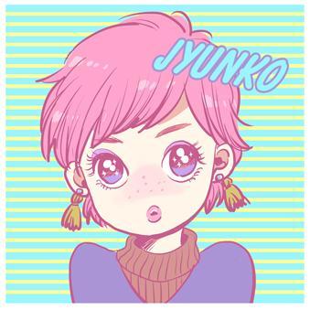 SNS用女の子アイコンイラスト描きます 夢かわ・少女漫画風アイコンで他と差をつけませんか!