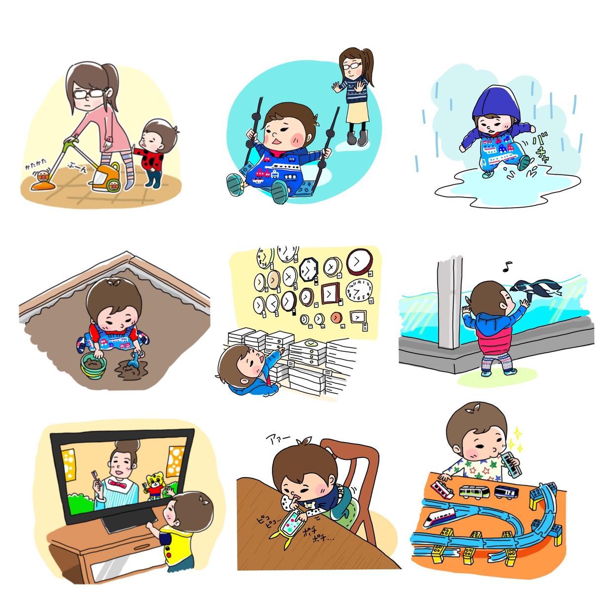 お子様やペットのイラストを描かせていただきます SNSのアイコンやブログのアイキャッチなどにオススメ!