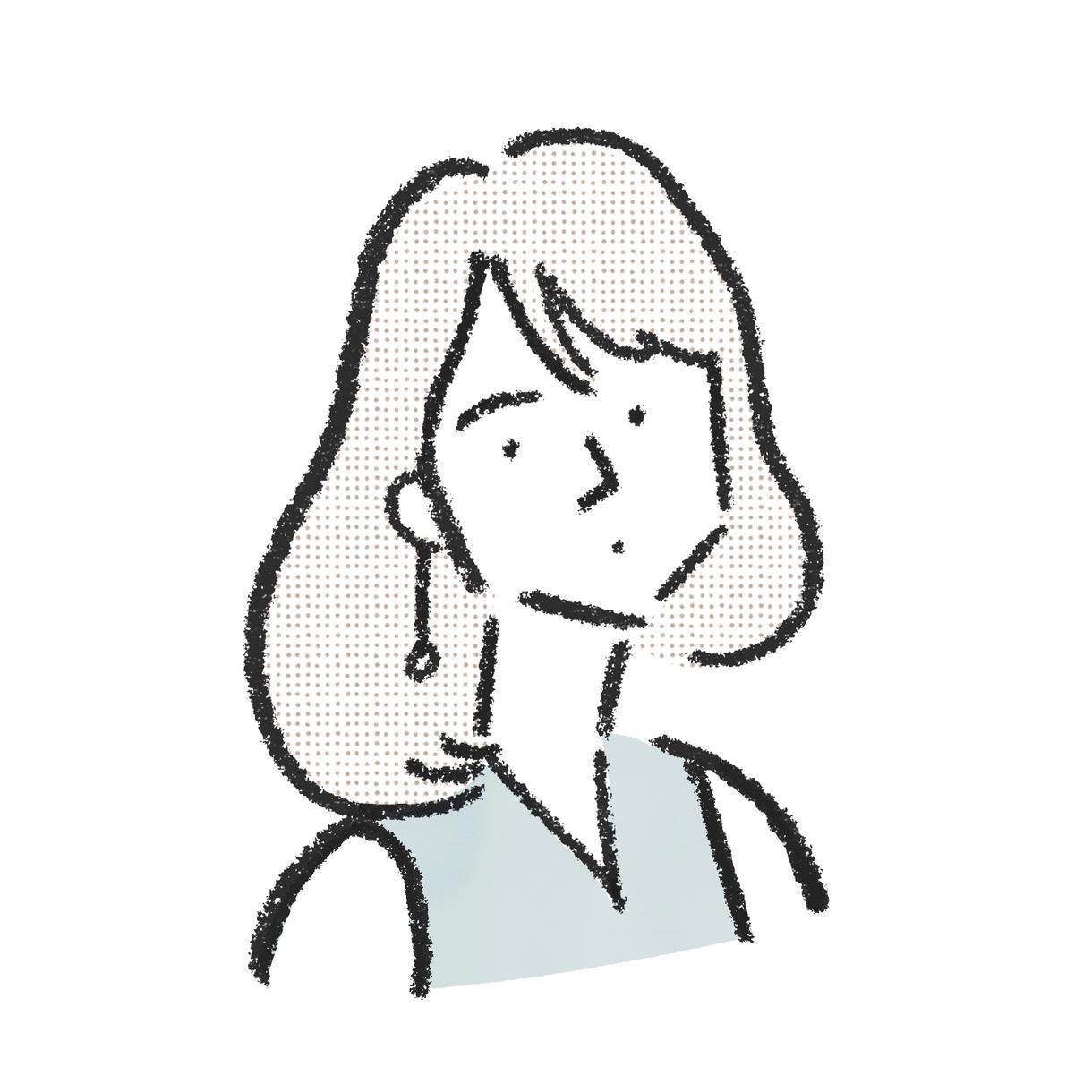 あなたの似顔絵をゆるっとズバッとシンプルに描きます 空気感重視のイラストをお届けします イメージ1