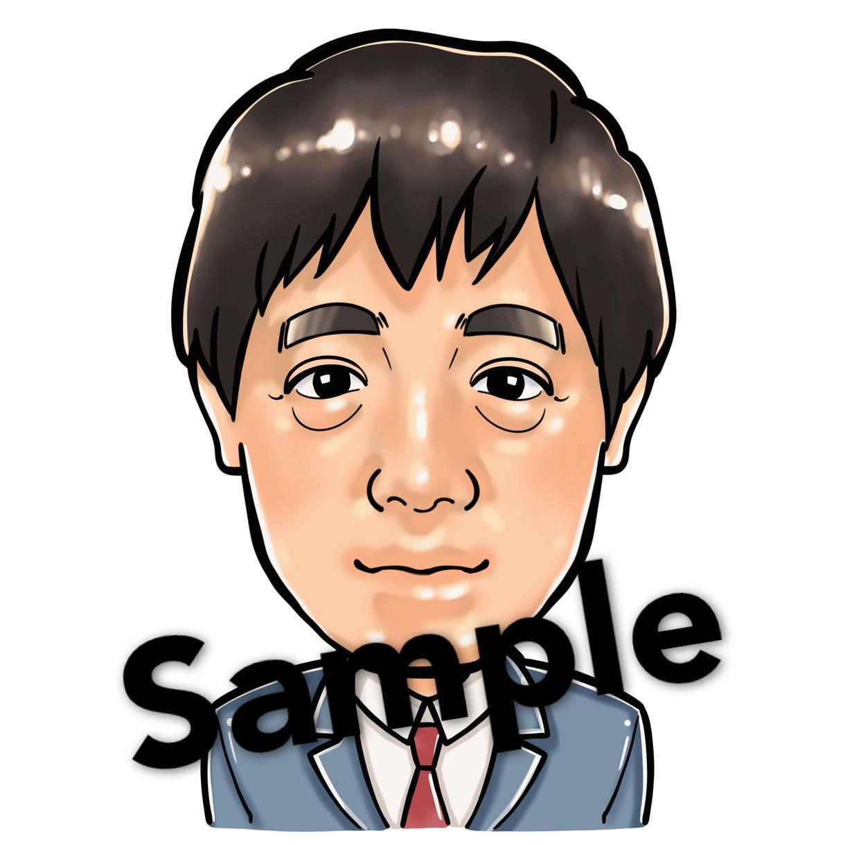 期間限定1,000円〜☆あなたの似顔絵お描きします ☆特徴を捉えて顔を目立たせ、身体はデフォルメ☆