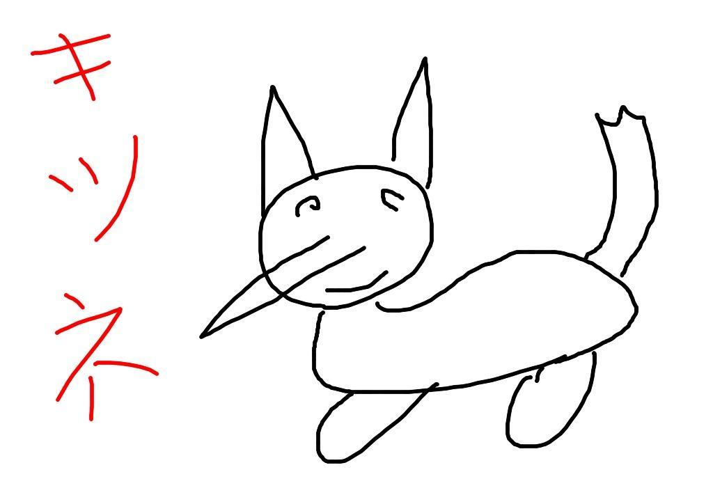 パンダが絵心の無い絵を描きますパンダ