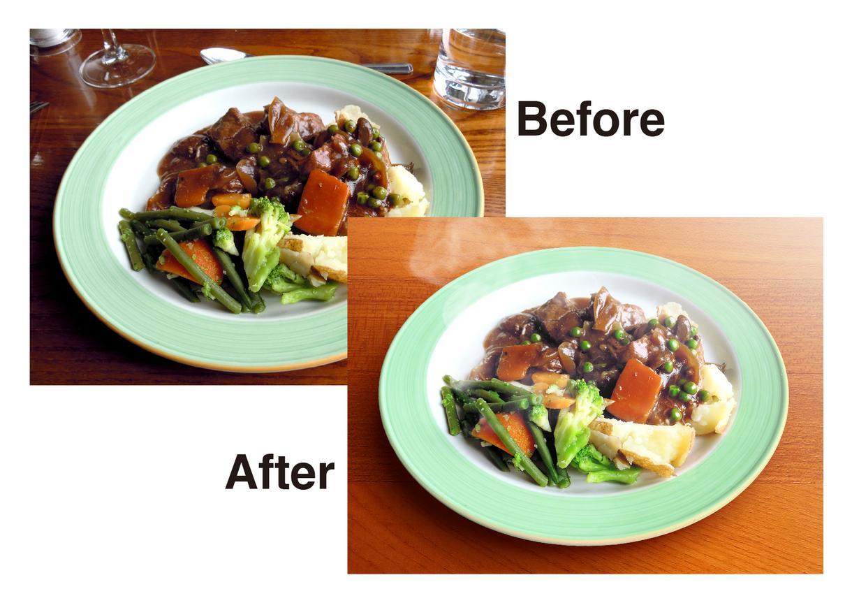 食材、料理の写真加工・合成承ります より美味しそうに、新鮮そうにシズル感のある写真に