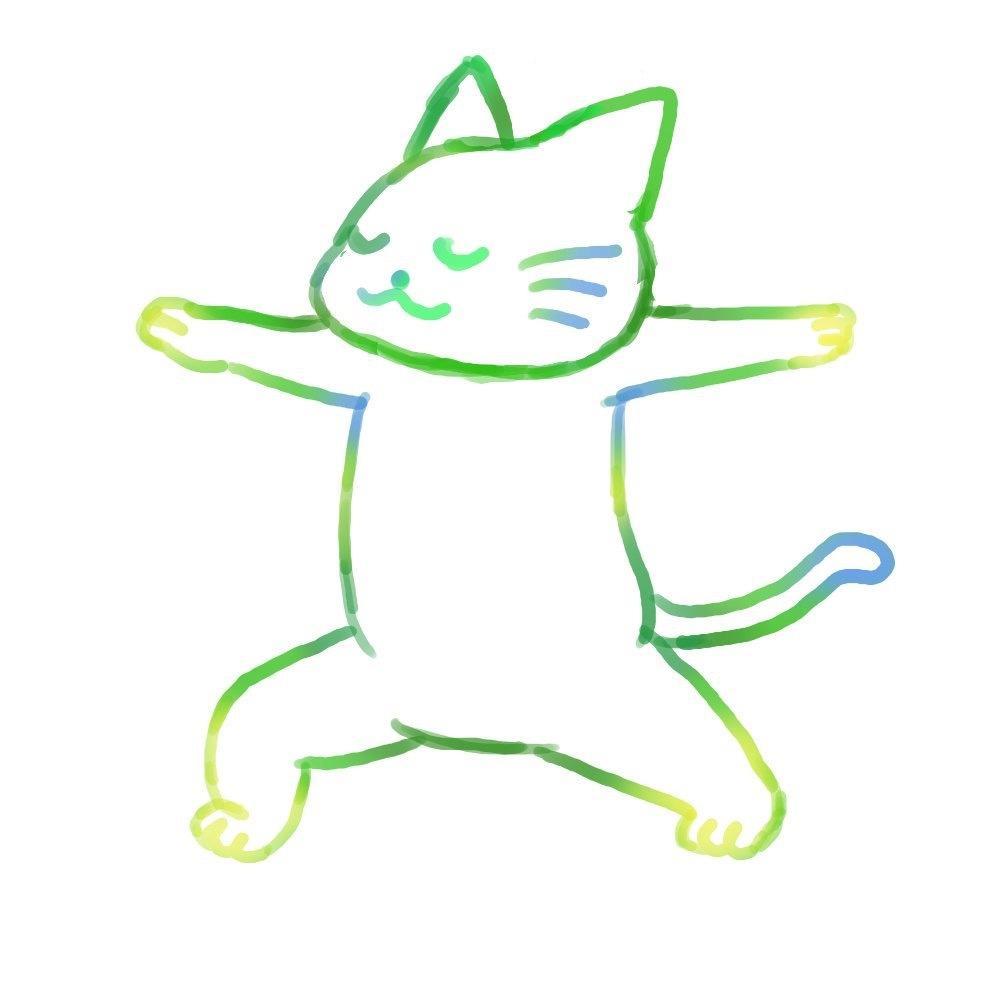ゆるい感じのネコちゃんのイラスト制作します チラシやホームページに使えるような、ゆるいネコのイラスト