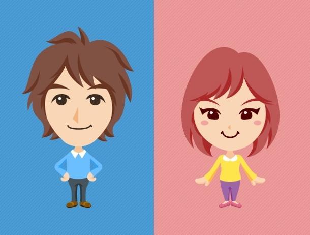 ポップな似顔絵キャラクター制作します あなたをデフォルメキャラクターに! イメージ1