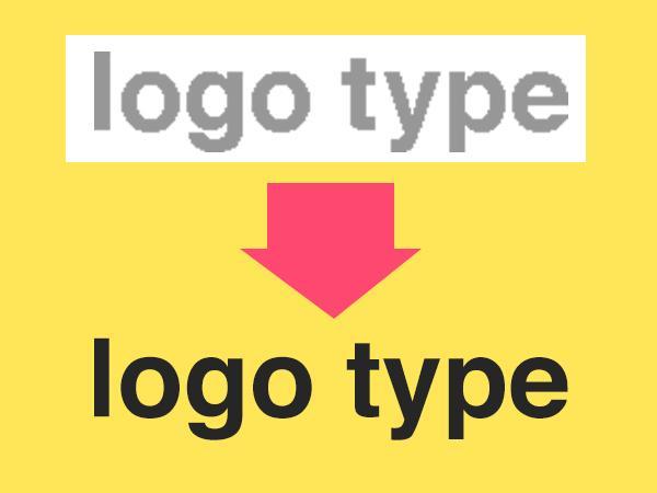 ロゴをトレースしてデータ化します データを紛失したとき、キレイな画像が欲しいときに