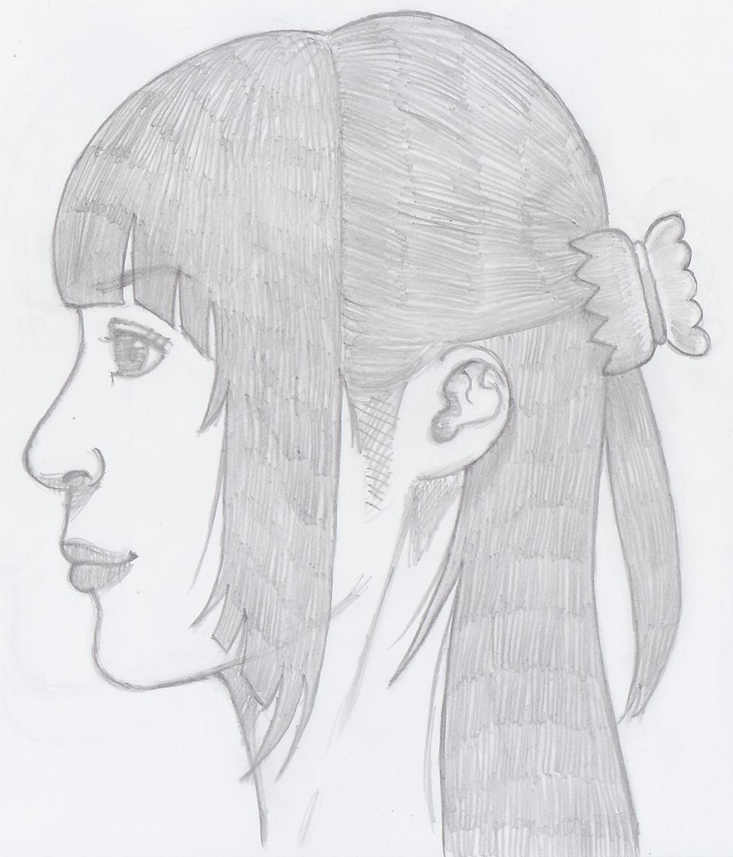アナログイラストで女性の横顔イラスト描きます アナログのイラスト欲しい方にお勧めです。