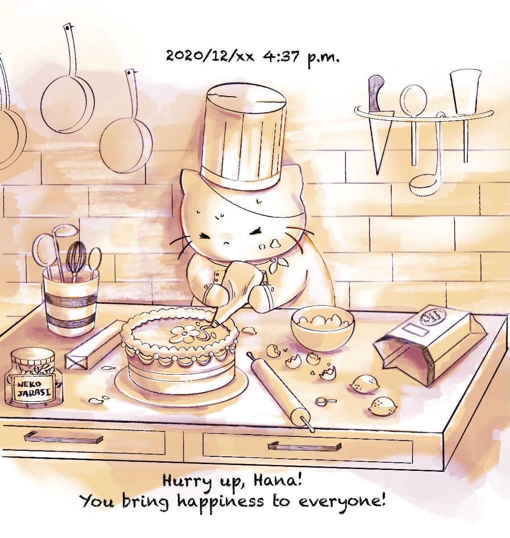 絵本風タッチで、可愛い動物イラストを描きます あなたの大切なペットちゃんを主役に!物語を感じる絵 イメージ1