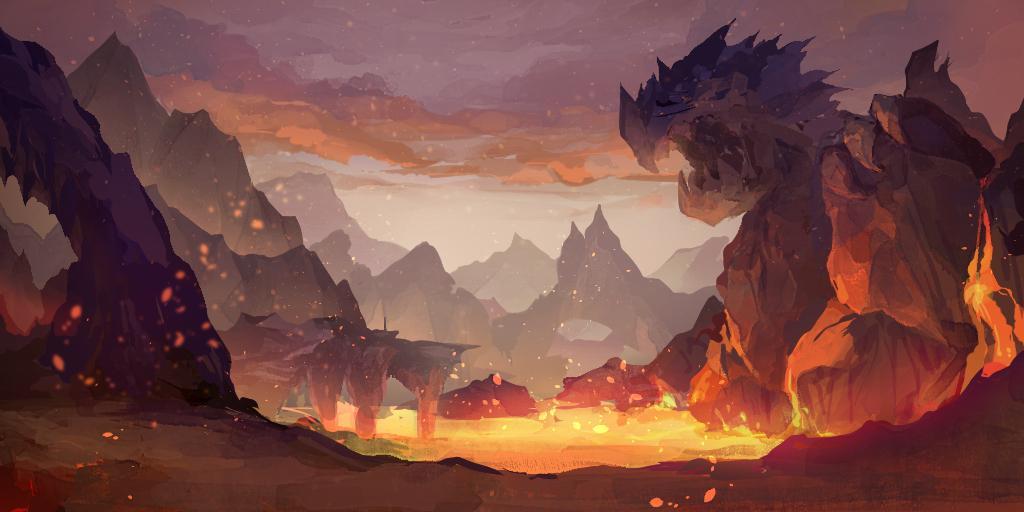 ファンタジー背景、コンセプトアート描きます ソーシャルゲーム会社での実績有ります。是非ご相談から!
